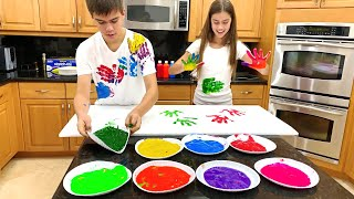 Nastya and Artem - bright story about paints
