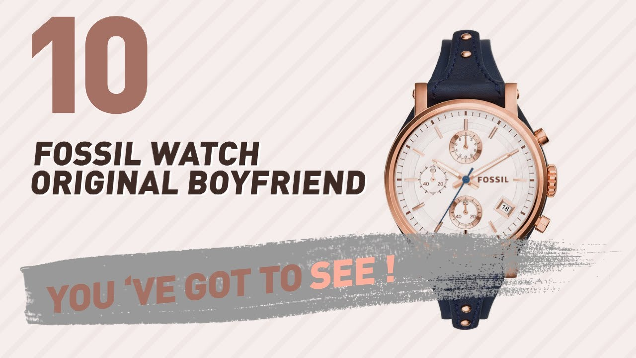 Top 10 Fossil Watch Original Boyfriend New Popular 2017 Es3707 Jacqueline Gray Leather Rose Gold