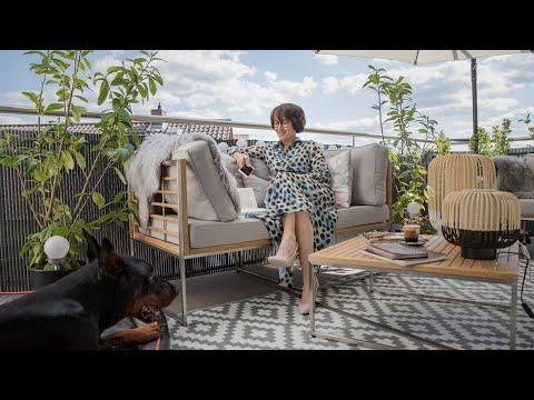 Video: Homestory - Zuhause bei Oxana. Outdoor Chilloase im Skandi Style. Beleuchtungsideen für den Balkon