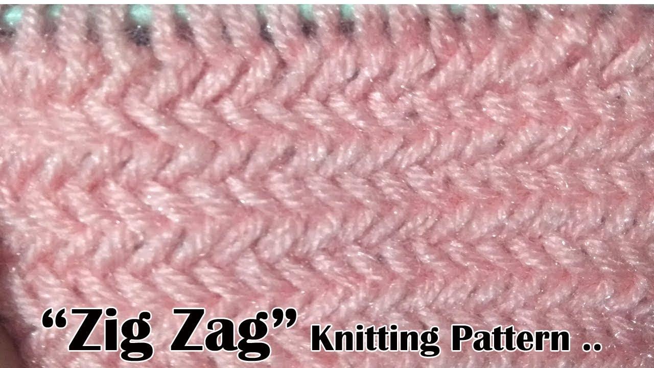 ZIG Zag Beautiful Knitting pattern Design 2018 - YouTube