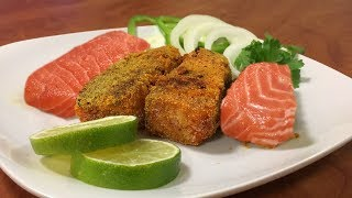 How to Fry American Salmon in Indian Style | Rava Fried Salmon Fish | Goa, Indian Style Fish Fry