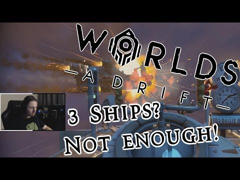 3 Ships WRECKED in 1v3 | Worlds Adrift Highlghts