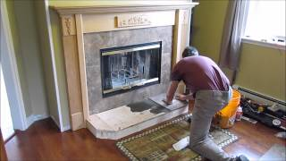 Fireplace Install #7 Of 9, Hearth And Tile