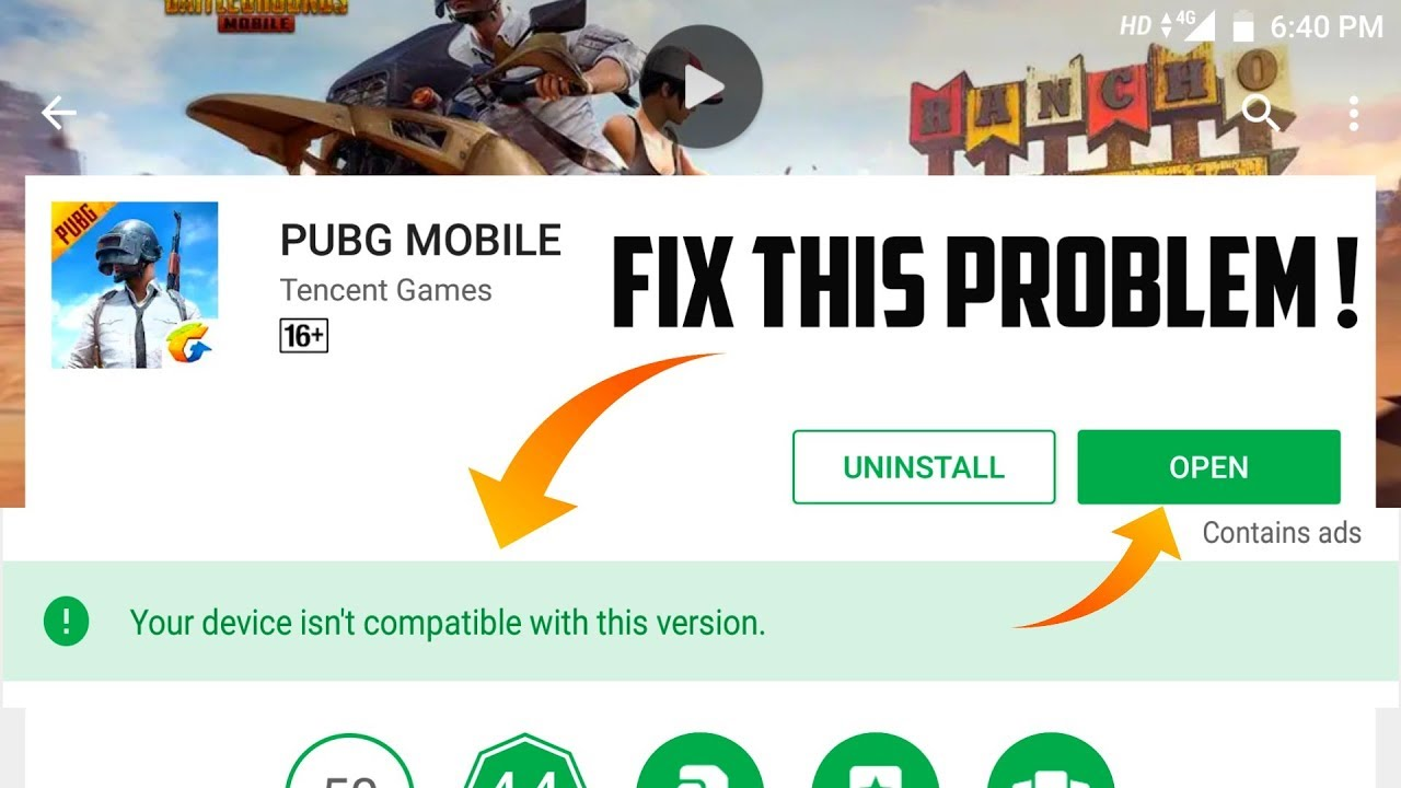 PUBG MOBILE You Device Isn't Compatible With This Verison