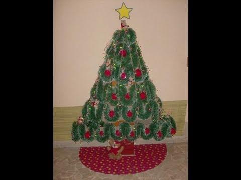 Como hacer arbol de navidad con cajas de carton reciclando - Como hacer cosas de navidad ...