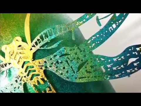 Easy Table decor DIY videos using immix metallic paints