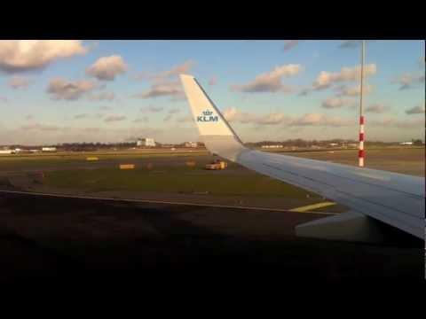 KLM flight - Barcelona - Amsterdam - Stuttgart