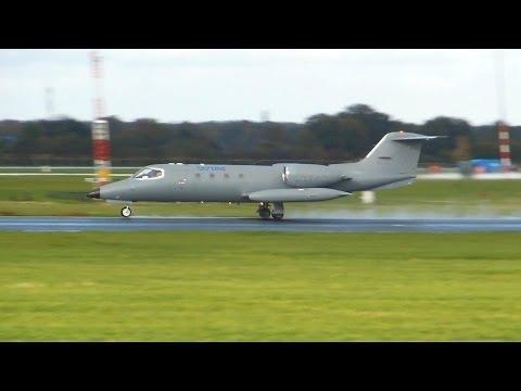 Skyline Aviation ► Learjet 36A ► Takeoff ✈ Groningen Airport Eelde