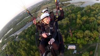 Lot motoparalotnią z mistrzem świata – Warszawa (Wilanów) video