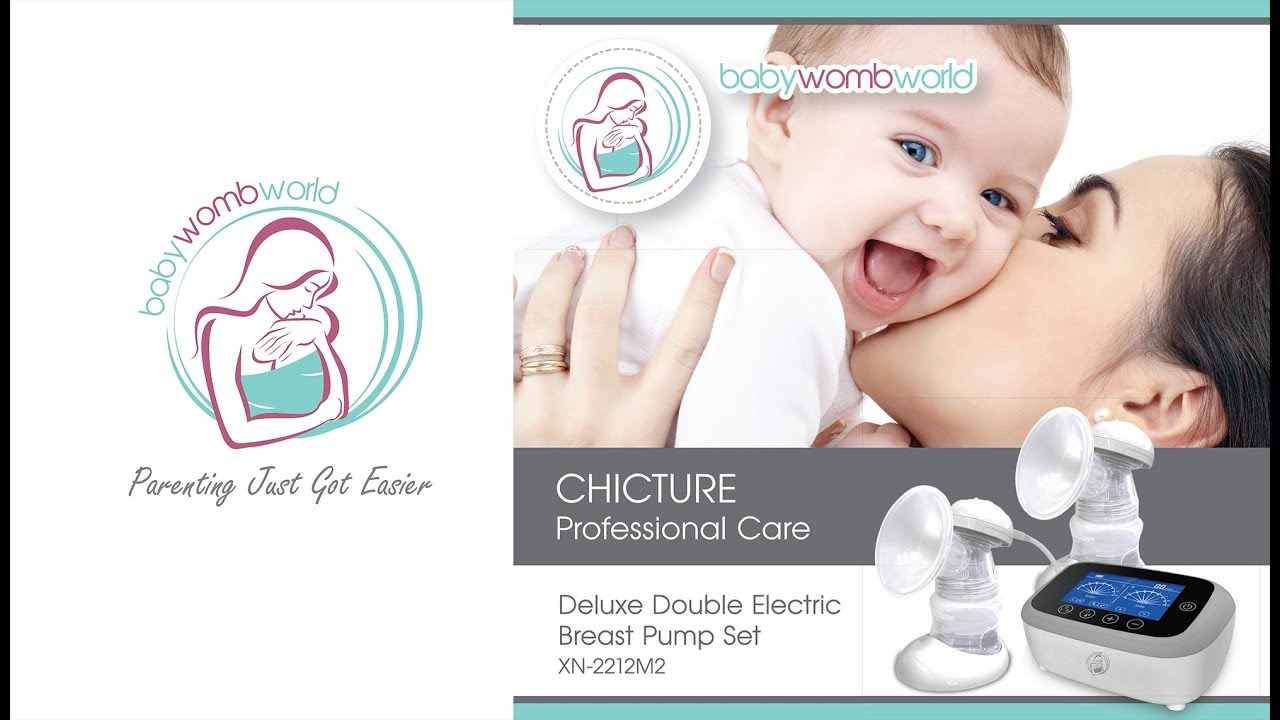 020a1a77bbe BabyWombWorld Chicture Double Electric Breast Pump - YouTube