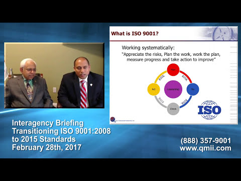 Procurement Briefing - September Upgrade Requirement: ISO 9001:2008 to 2015