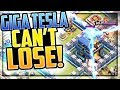 MAX Giga Tesla CAN'T LOSE! Clash of Clans Town Hall 12 Update Gameplay