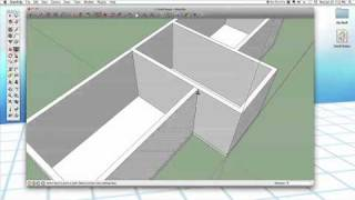 Sketchup #25: Small House (part 1 - Walls)