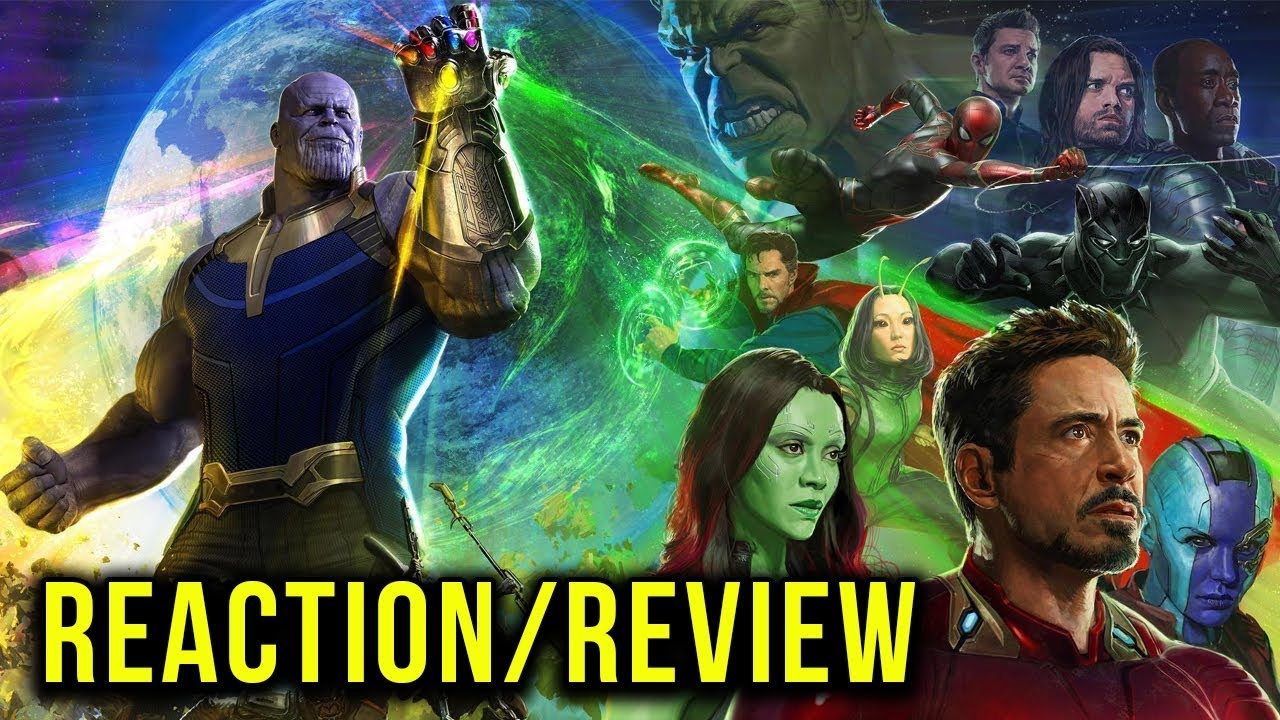 avengers: infinity war official trailer reaction/review - youtube