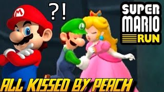 Super Mario Run - Every Character gets kissed by Peach