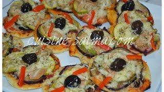 mini pizza facile ميني بيتزا بالخضار /بيتزات صغار