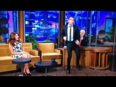Jean Dujardin imitating John Travolta's dancing