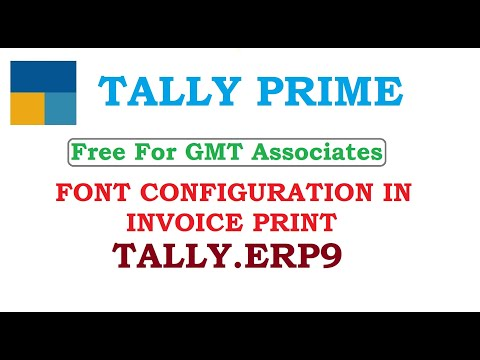 FONT CONFIGURATION FOR INVOICE PRINT - YouTube