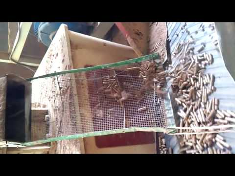 Wood pellet machine for homemade pellets production