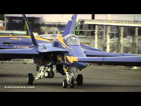 Blue Angels Leaving Seattle - Raw Video