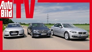 Audi A6 vs. Mercedes E 350 vs. BMW 530d