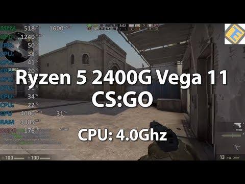 CS:GO Ryzen 5 2400G Test CPU@4 0Ghz Gameplay Benchmark Test