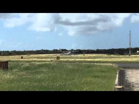 Dassault Falcon 900 Takeoff Anguilla AXA Clayton J Lloyd Airport TQPF