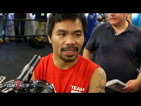 """Does Manny Pacquiao support Hillary Clinton or Donald Trump? """"I'm keeping my mouth closed!"""""""