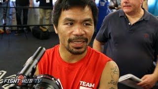 Does Manny Pacquiao support Hillary Clinton or Donald Trump?