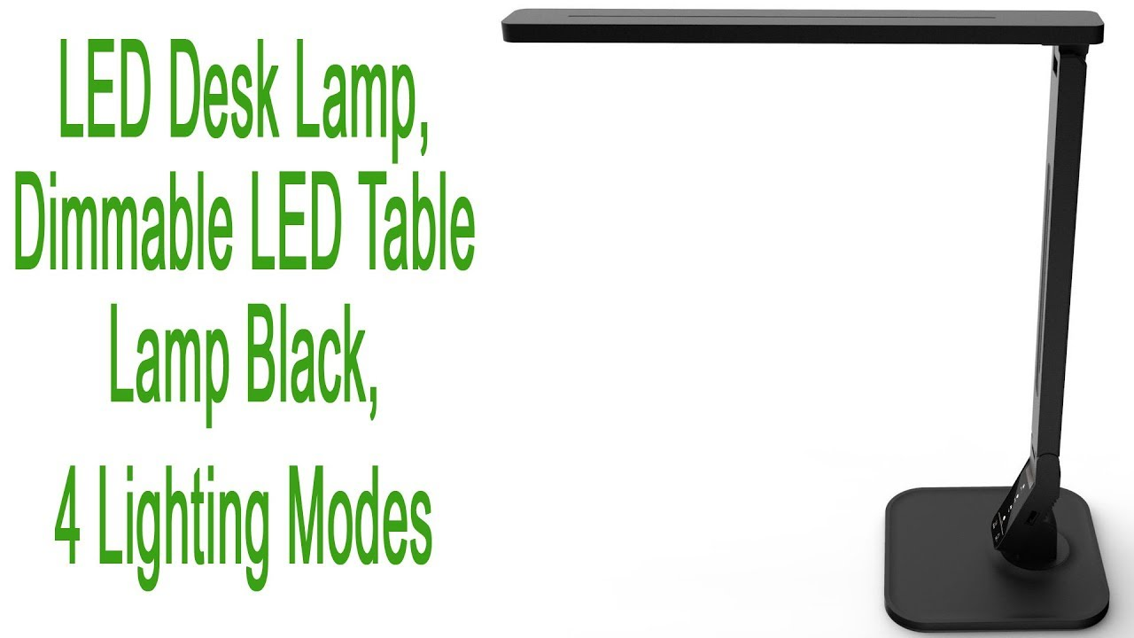 Lampat LED Desk Lamp 5-.. New 4 Lighting Modes Dimmable LED Table Lamp Black
