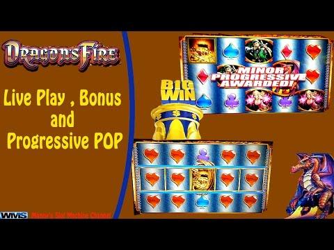 WMS - Dragons Fire : Live Play , Bonus and Progressive POP