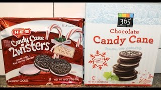 h e b candy cane 2wisters 365 chocolate candy cane sandwich crmes review