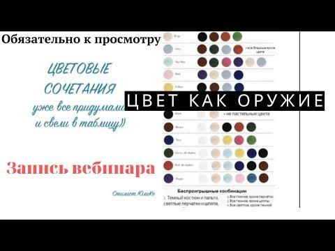 """Бесплатный вебинар """"Цвет как оружие"""" Психология цвета.Значение цветов.Влияние цвета на человека"""