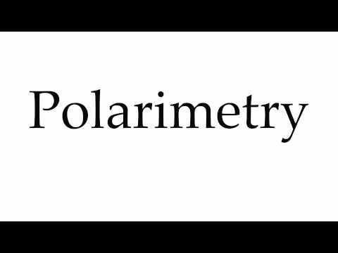 How to Pronounce Polarimetry