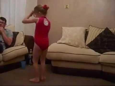 Talented 5 year old Taylor having fun doing gymnastics