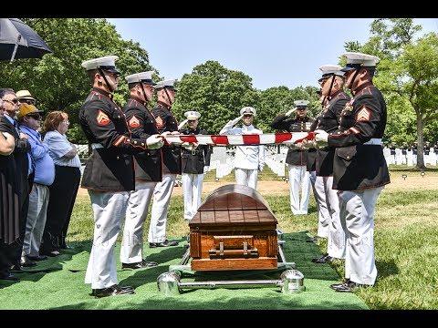 Arlington National Cemetery Full Honors Burial for Tarawa Marine PFC Larry Ronald Roberts
