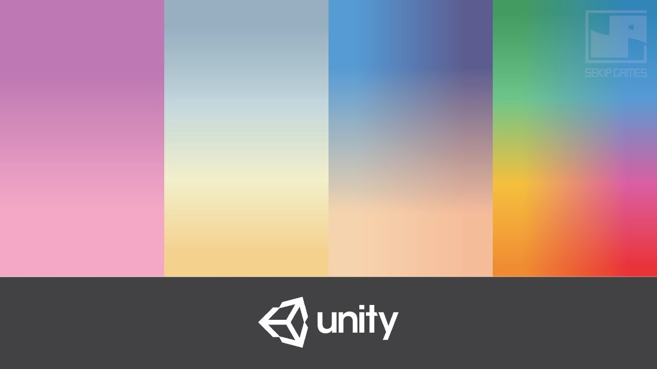 How to easily create a Gradient Background without coding - Unity 2D  Tutorial 2019