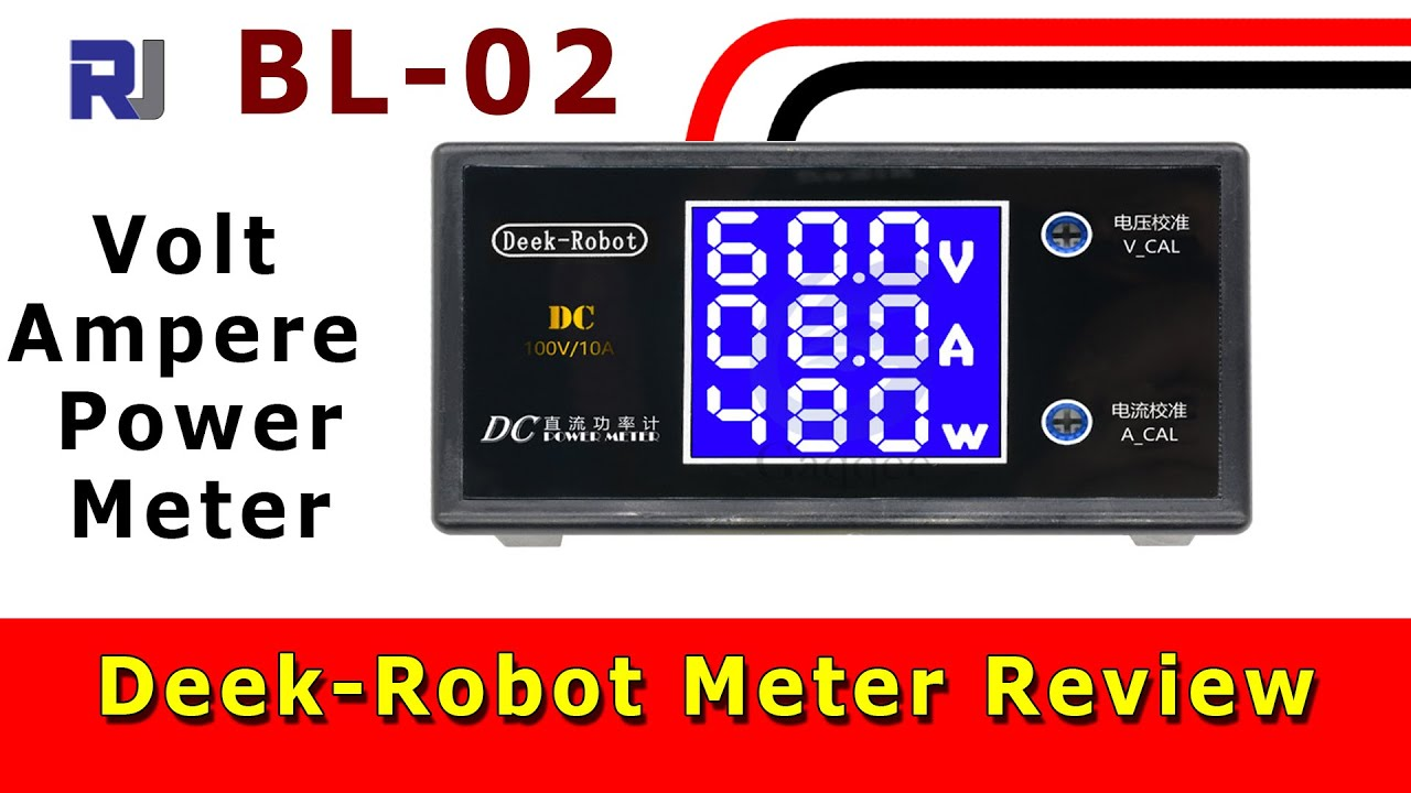 $5 Deek-Robot 100V 10A Volt Ampere Power meter review - Robojax