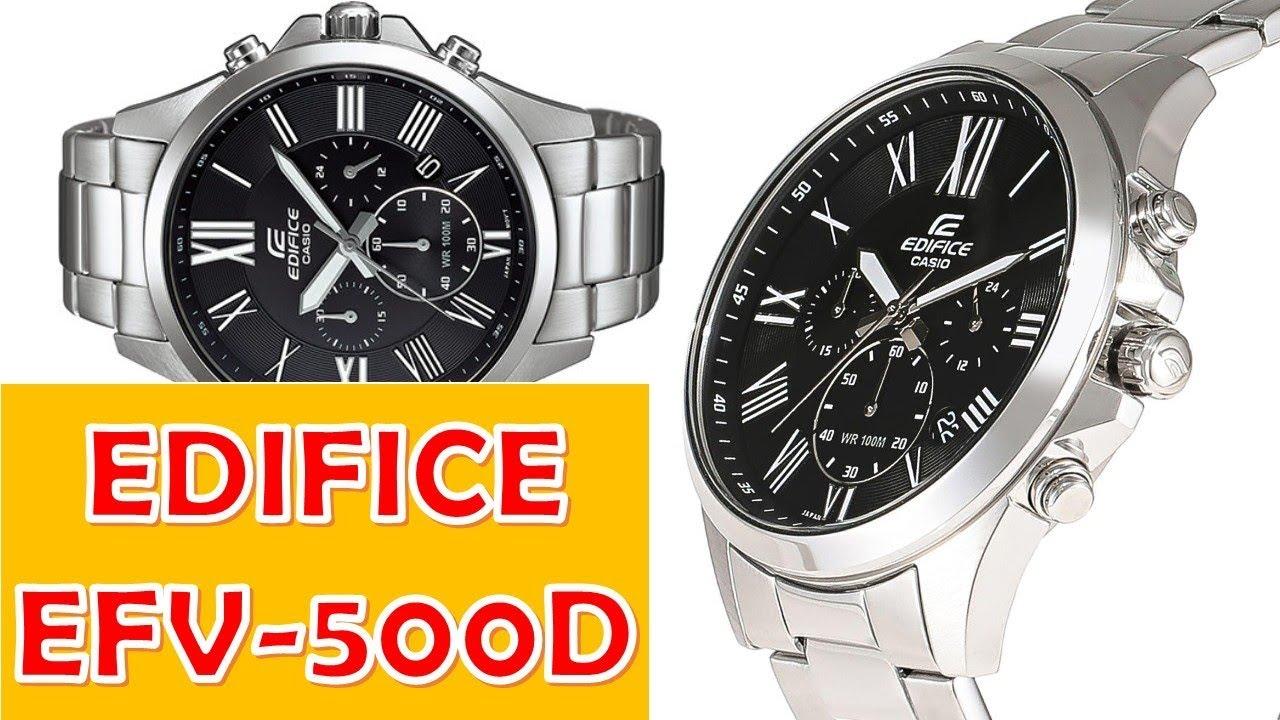 ed0dd7c4a8f9 Casio Edifice EFV-500D manual 5434 - YouTube