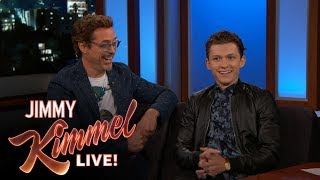 connectYoutube - Robert Downey Jr. & Tom Holland on Spider-Man: Homecoming