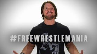 AJ Styles bereit, um seinen Traum wahr zu #FreeWrestleMania