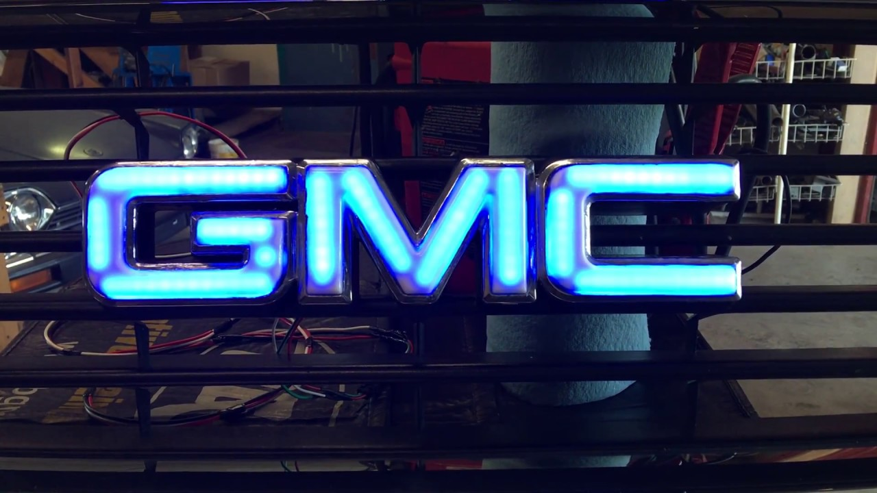 Lighted Gmc Front Emblem Youtube
