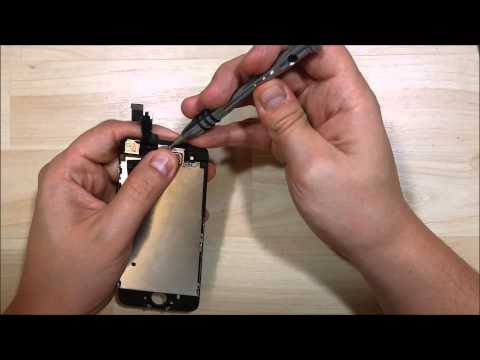 iPhone 5S LCD/Screen replacement - Camera/Home button/Earpiece Replacement.