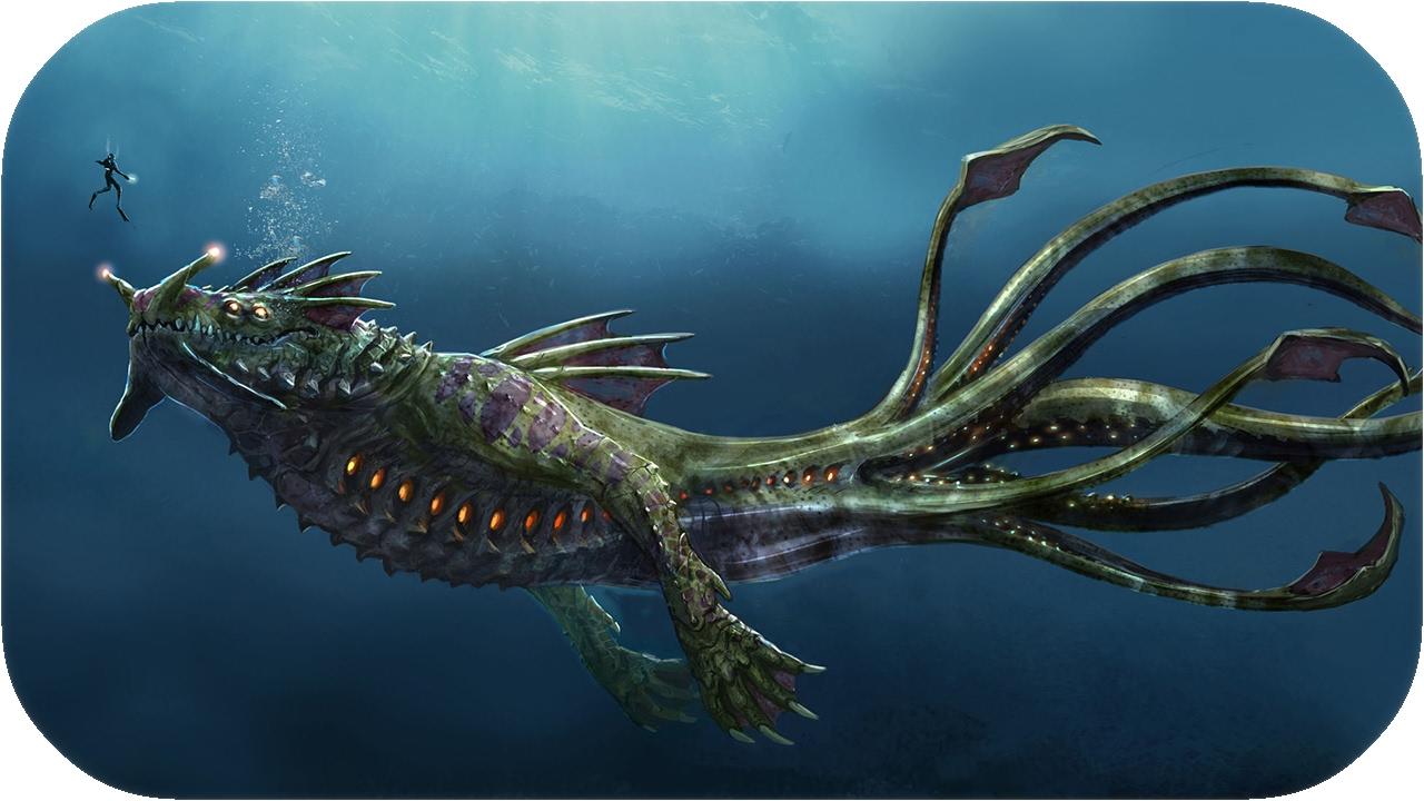 чудовища океанских глубин фото огромные
