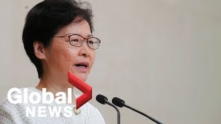 Hong Kong's Carrie Lam says they will engage protesters in dialogue 'directly'