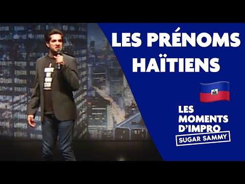Les prénoms haïtiens: Sugar Sammy | Moment d'impro