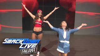 nikki bella helps sophia grace create her own wwe entrance smackdown live fallout dec 6 2016