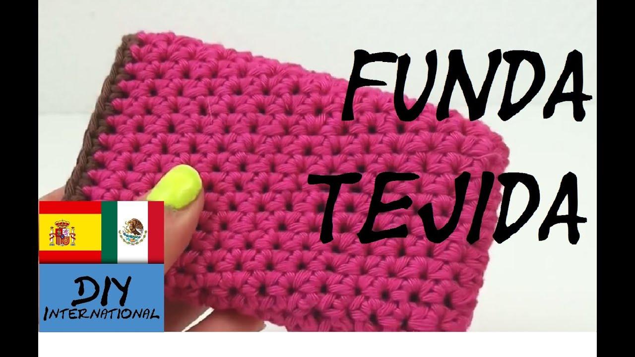 Funda para celular tejida facil de hacer tutorial diy - Como hacer unas fundas para el sofa ...