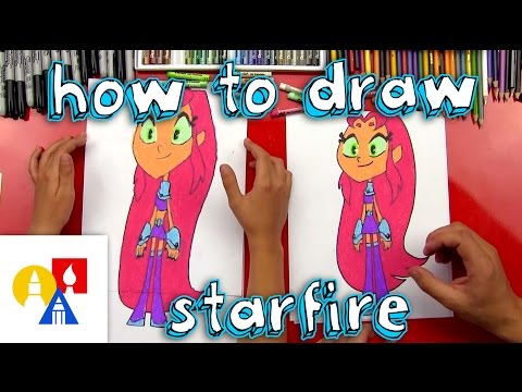 How To Draw Starfire From Teen Titans Go!