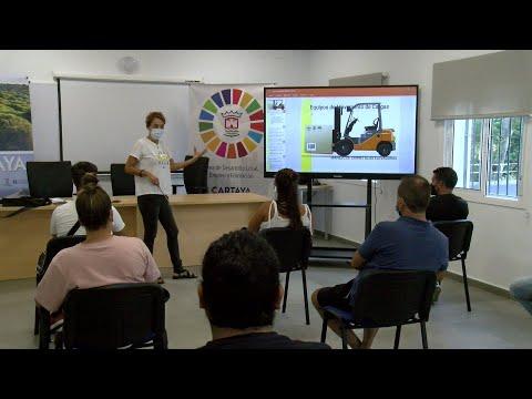 Cartaya Tv   El Área de Desarrollo Local inaugura un curso de Operador de carretillas elevadoras